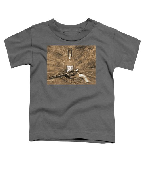 Whiskey And A Gun Toddler T-Shirt
