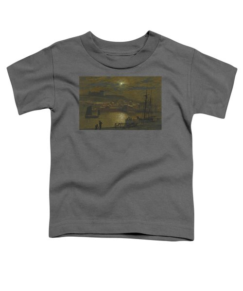 Whitby From Scotch Head Moonlight On The Esk Toddler T-Shirt
