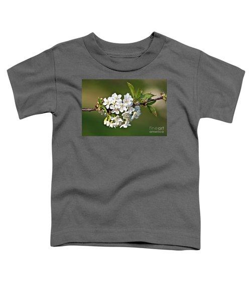 White Apple Blossoms Toddler T-Shirt