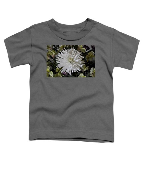 White Chrysanthemum Toddler T-Shirt