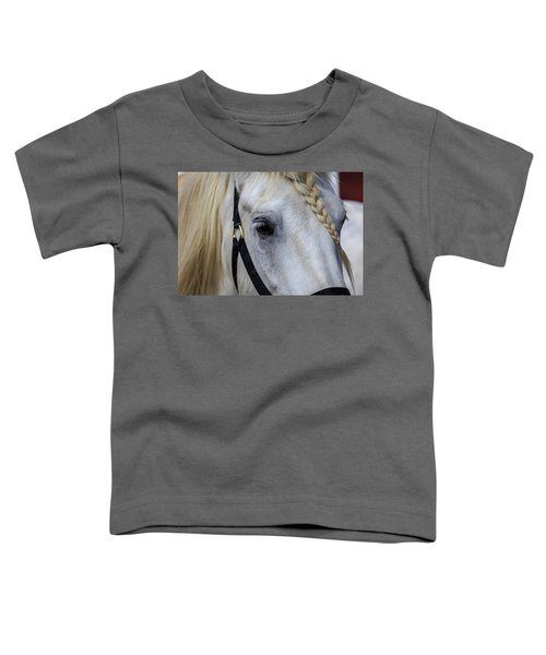 White Work Horse Toddler T-Shirt