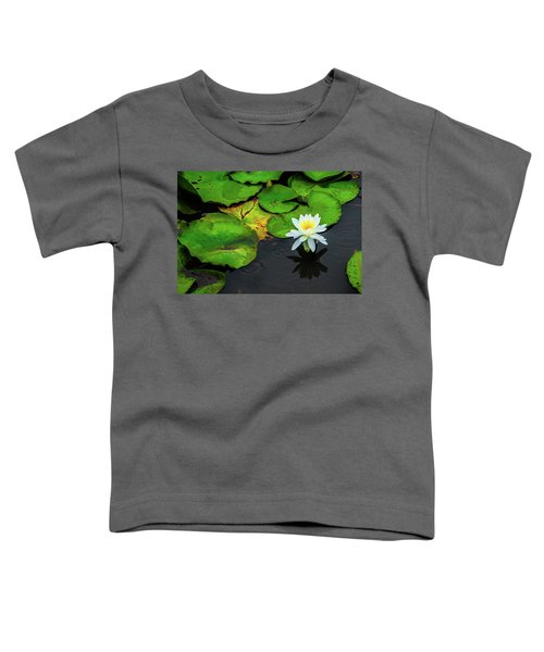 White Lily And Rippled Water Toddler T-Shirt