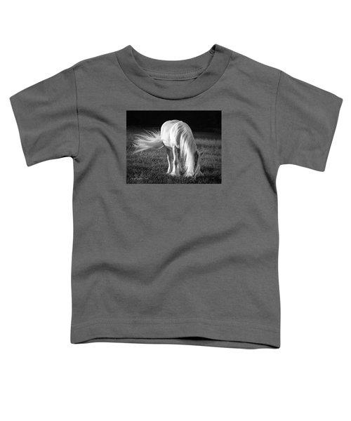 White On Black And White Toddler T-Shirt