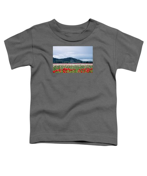 White Pass Highway With Tulips Toddler T-Shirt