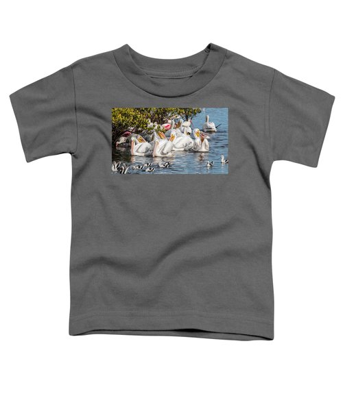 White Pelicans And Others Toddler T-Shirt
