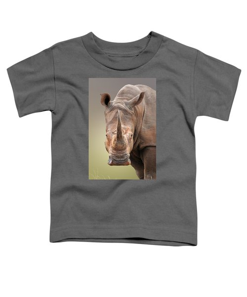 White Rhinoceros Portrait Toddler T-Shirt
