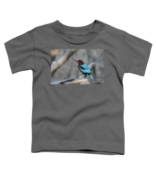 White-throated Kingfisher 02 Toddler T-Shirt