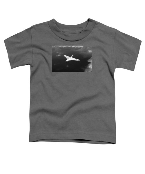 Toddler T-Shirt featuring the digital art White Vulcan B1 At Altitude Black And White Version by Gary Eason