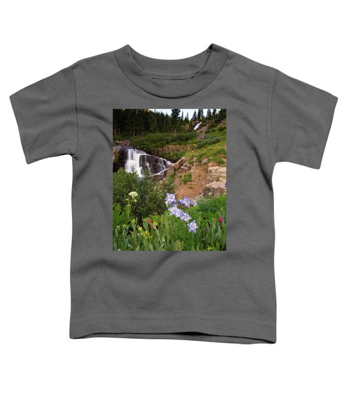 Wild Flowers And Waterfalls Toddler T-Shirt