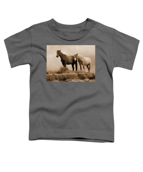 Wild Horses In Western Dakota Toddler T-Shirt