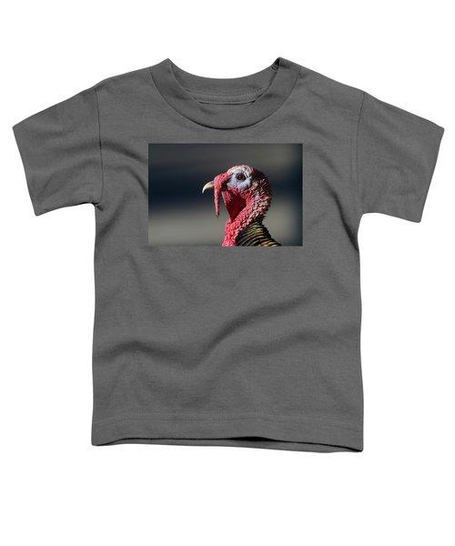 Wild Merriams Turkey Portrait  Toddler T-Shirt