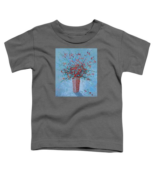 Wild Red Provence Floral Toddler T-Shirt