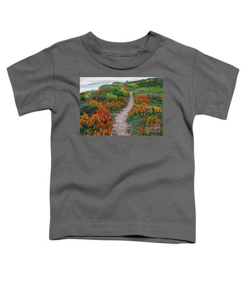 Wildflower Path At Ribera Beach Toddler T-Shirt