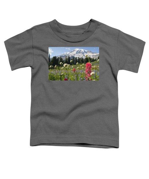Wildflowers In Mount Rainier National Toddler T-Shirt