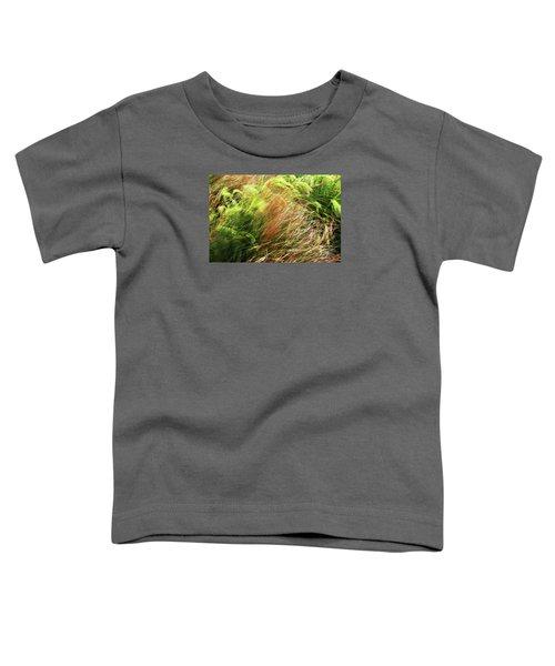 Windblown Grasses Toddler T-Shirt by Nareeta Martin