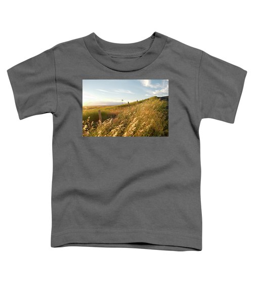Windmill And The Fence Sundown Toddler T-Shirt