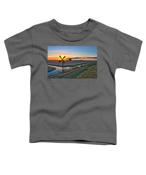 Windmill At Sunrise Toddler T-Shirt