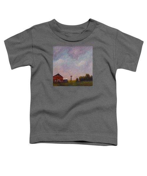 Windmill Farm Under A Stormy Sky. Toddler T-Shirt
