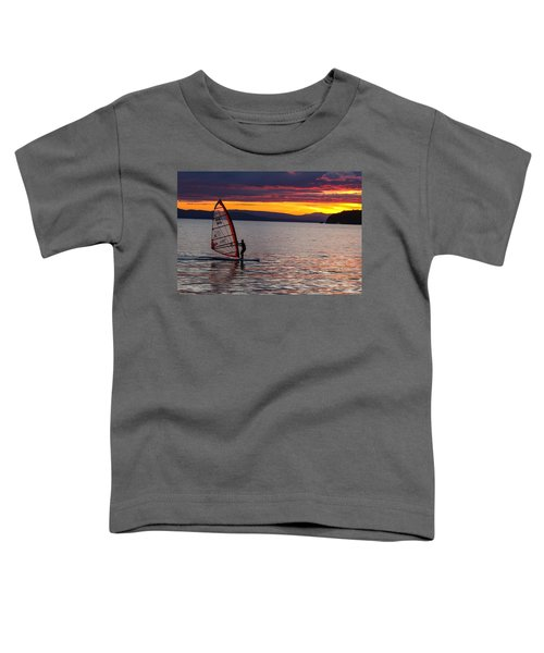 Windsurfing Lake Champlain Toddler T-Shirt