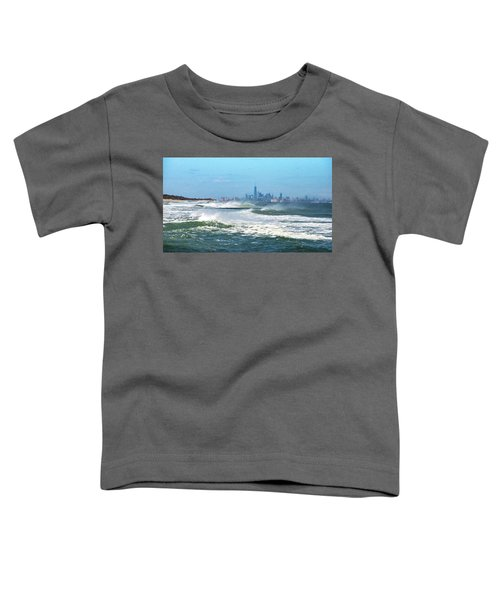 Windy View Of Nyc From Sandy Hook Nj Toddler T-Shirt