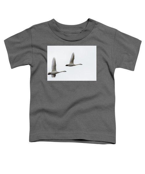 Toddler T-Shirt featuring the photograph Winging Home by Donald Brown