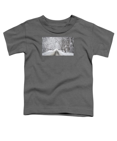 Winter Drive On Highway A Toddler T-Shirt