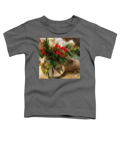 Winter Flowers In Glass Vase Toddler T-Shirt