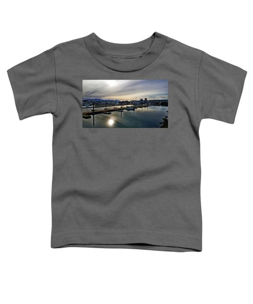 Winter Harbor Revisited #mobilephotography Toddler T-Shirt