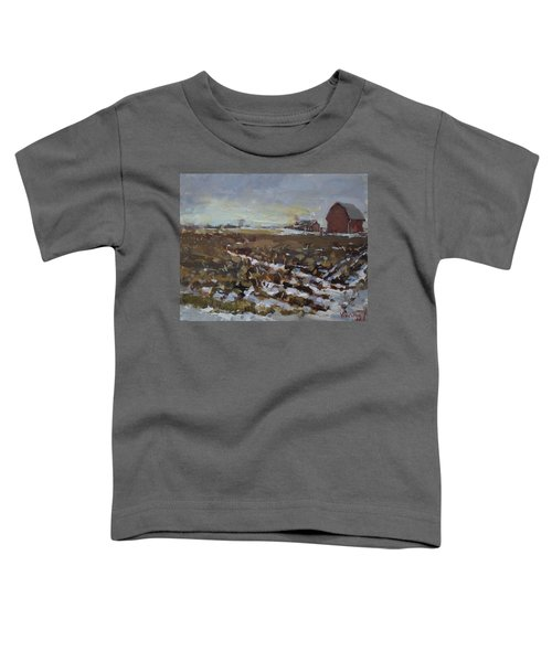 Winter In The Farm Toddler T-Shirt