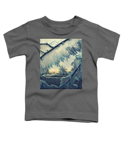 Toddler T-Shirt featuring the photograph Winter Magic by Colette V Hera Guggenheim