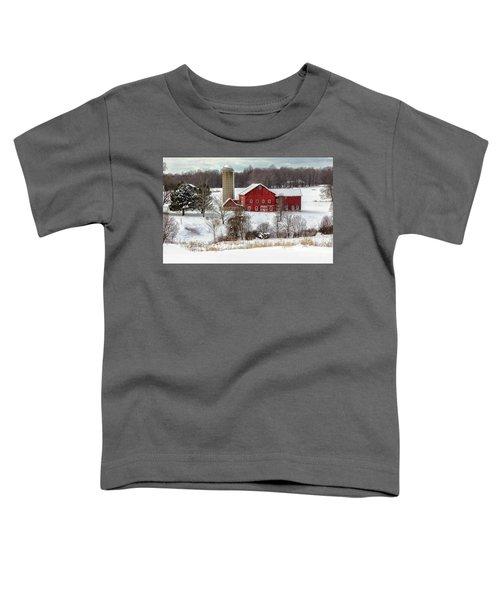 Winter On A Farm Toddler T-Shirt