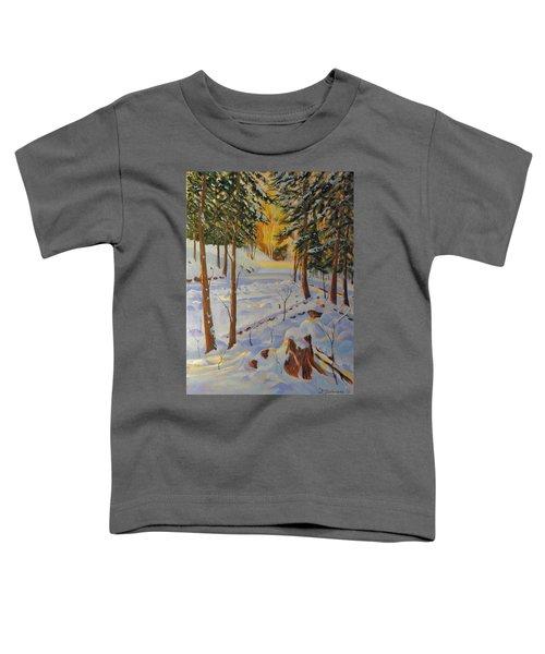 Winter On The Lane Toddler T-Shirt