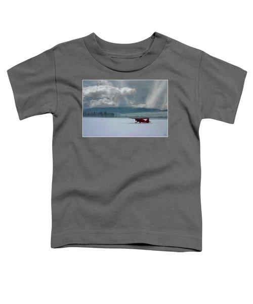 Winter Plane Toddler T-Shirt