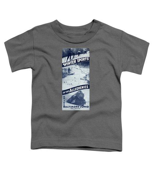 Winter Sports In The Alleghenies Toddler T-Shirt