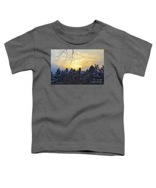 Winter Sunset On The Tree Farm #1 Toddler T-Shirt