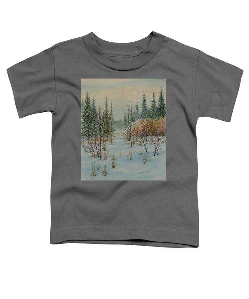 Winter Trail Alberta Toddler T-Shirt