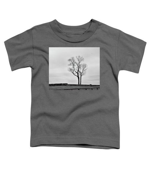 Winter Trees And Fences Toddler T-Shirt