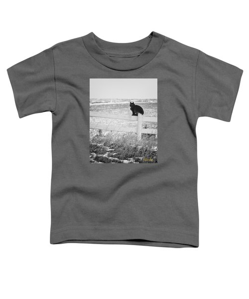 Toddler T-Shirt featuring the photograph Winter's Stalker by Rikk Flohr