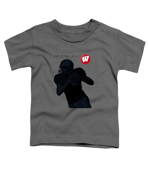 Wisconsin Football Toddler T-Shirt by David Dehner