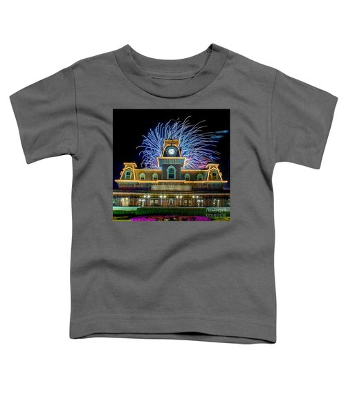 Wishes Over Magic Kingdom Train Station. Toddler T-Shirt