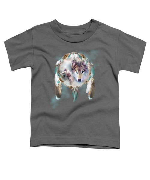 Wolf - Dreams Of Peace Toddler T-Shirt by Carol Cavalaris