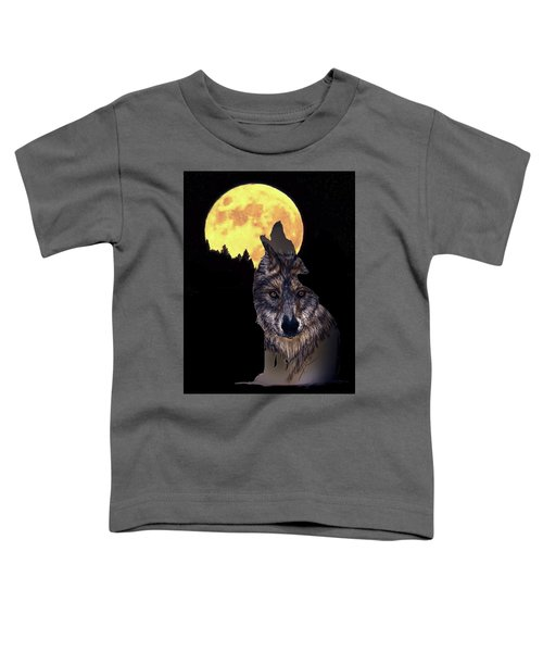 Wolf Howling At The Moon Toddler T-Shirt