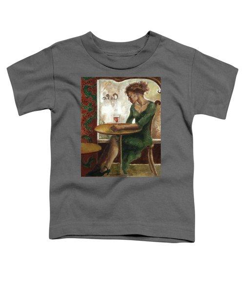 Woman In A Paris Cafe Toddler T-Shirt
