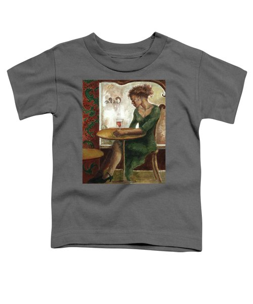 Woman In A Paris Cafe Toddler T-Shirt