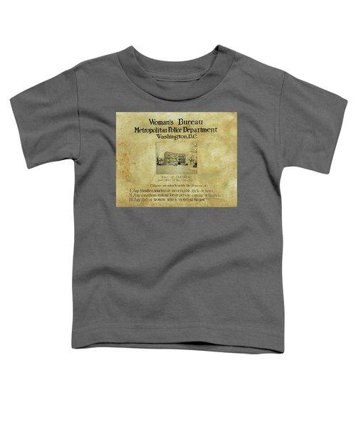 Women's Bureau House Of Detention Poster 1921 Toddler T-Shirt