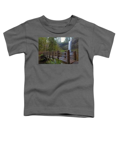 Wood Bridge At Silver Falls State Park Toddler T-Shirt