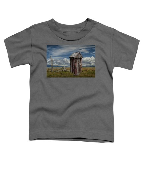 Wood Outhouse Out West Toddler T-Shirt