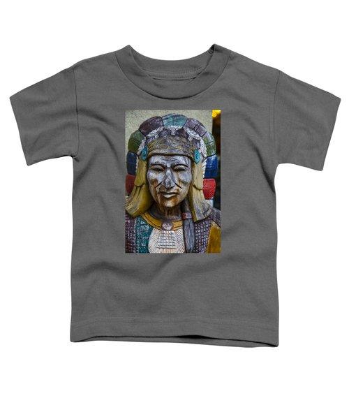 Wooden Indian Face Toddler T-Shirt