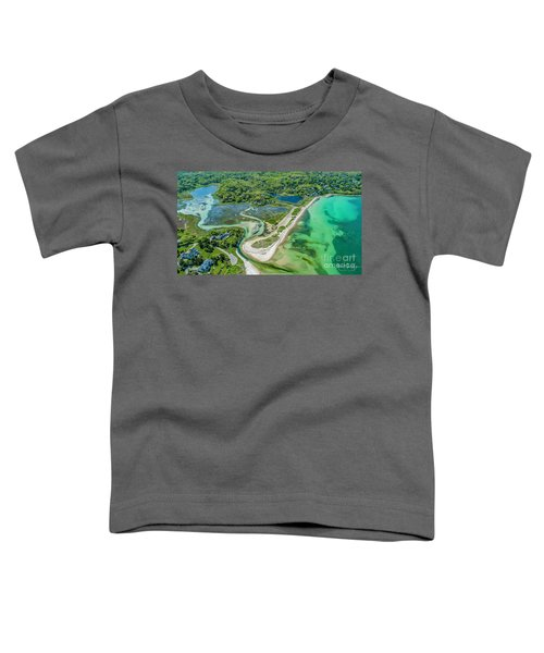 Woodneck Beach At 400 Feet Toddler T-Shirt