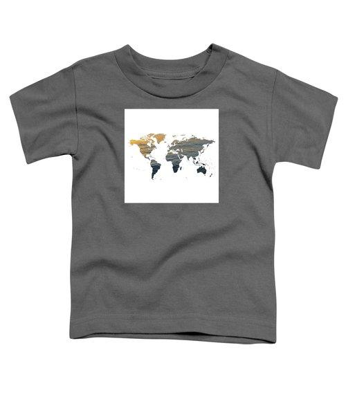 World Map - Ocean Texture Toddler T-Shirt
